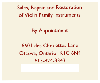 Sales, Repair and Restoration